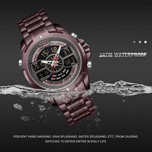 Image 4 - NAVIFORCE reloj deportivo de lujo para hombre, cronógrafo militar, resistente al agua, con retroiluminación, de cuarzo Digital, Masculino