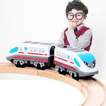 Pokich Child Toys Electric Railway Steam-Era Freight Train Classic Children's Locomotive Toy Bus Train High-Speed Rail Toys