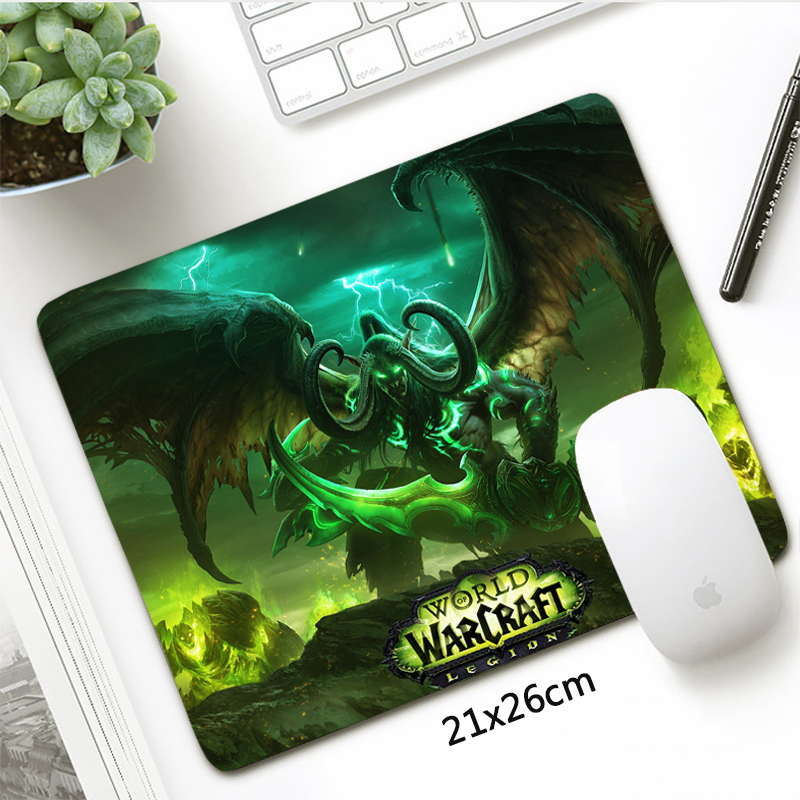 Fashion 21x26cm World Of Warcraft Small Mouse Pad Gamer Locking Edge Horde Alliance Gaming Mousepad Otaku Gift Laptop Desk Mat