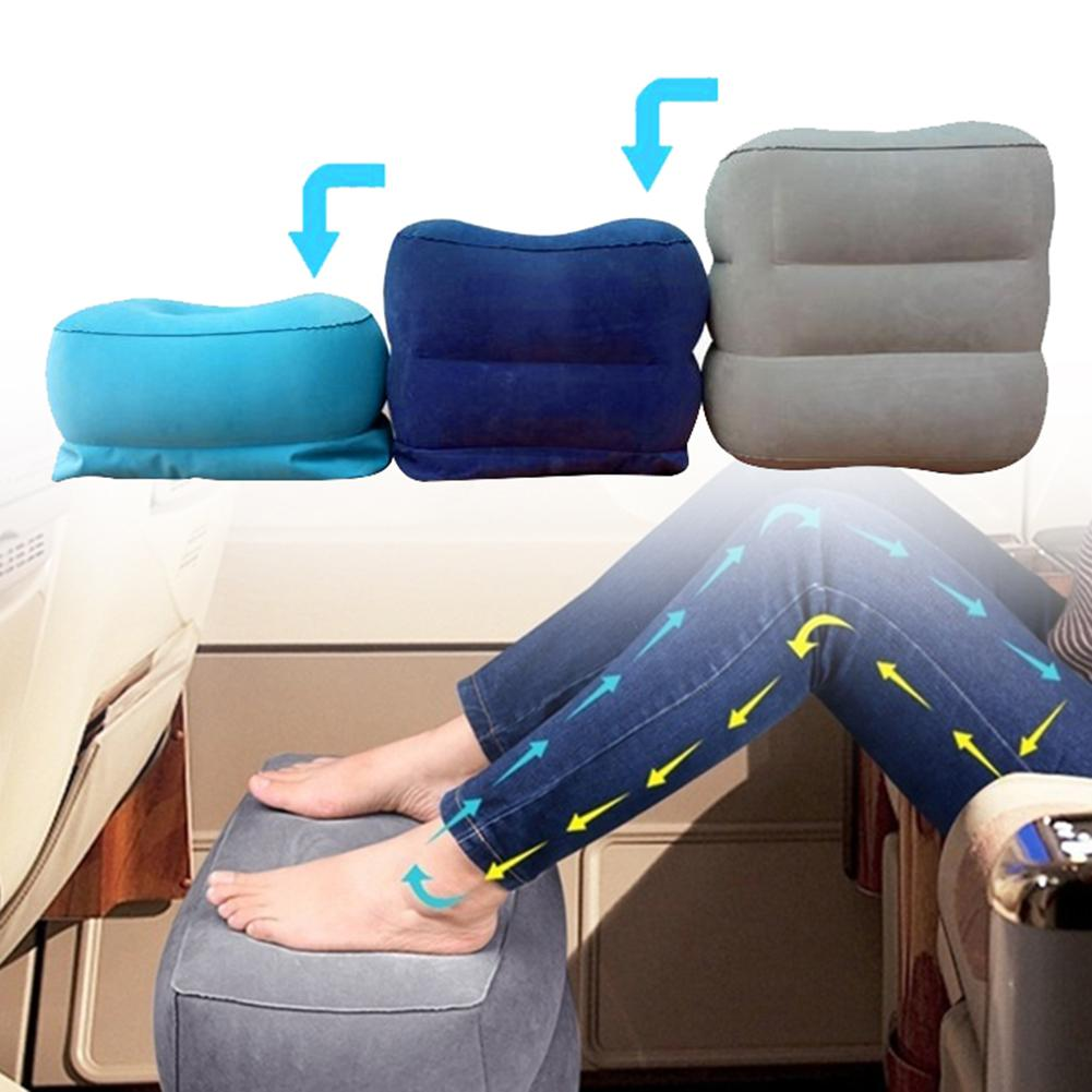 Travel Airplanes Car Portable Inflatable Leg Foot Rest Relax Pillow Cushion Car Accessories Interior