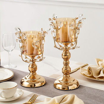 European Style Golden Metal Candle Holder 2