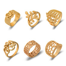 Viennois Metallic Ring For Women Twisted Zircon Female Finger Gold Color Jewelry 2019(China)