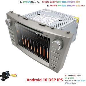 """Image 5 - 8 """"Android 10.0 Auto Stereo Dvd Radio Voor Toyota Camry Aurion 2007 2008 2009 2010 2011 Gps Navigatie Swc bt OBD2 2 Gb Ram + Camera"""