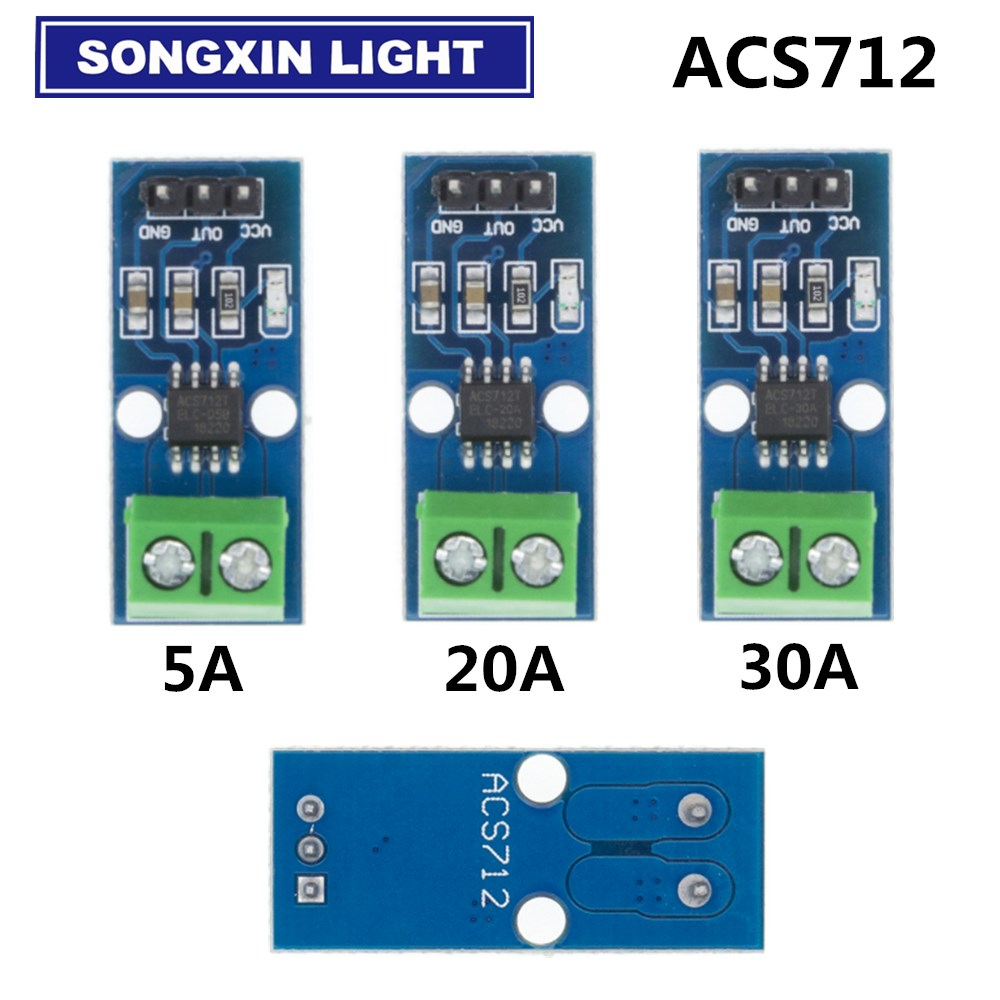 Модуль датчика тока Холла ACS712, модуль для Arduino ACS712TELC- 5A/20A/30A, 10 шт.