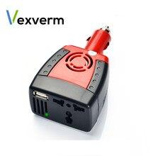 Auto Inverter150W 12V DC zu 220V/110V AC Zigarette Leichter Netzteil Inverter Adapter mit 0.5/2,1 EINE USB Ladegerät Port