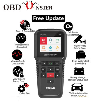 цена на Full OBDII code Reader YA401 301 Scanner Tool Support Free update OBD2 Functions battery check PK KW850 CR3008 Auto Diag scanner