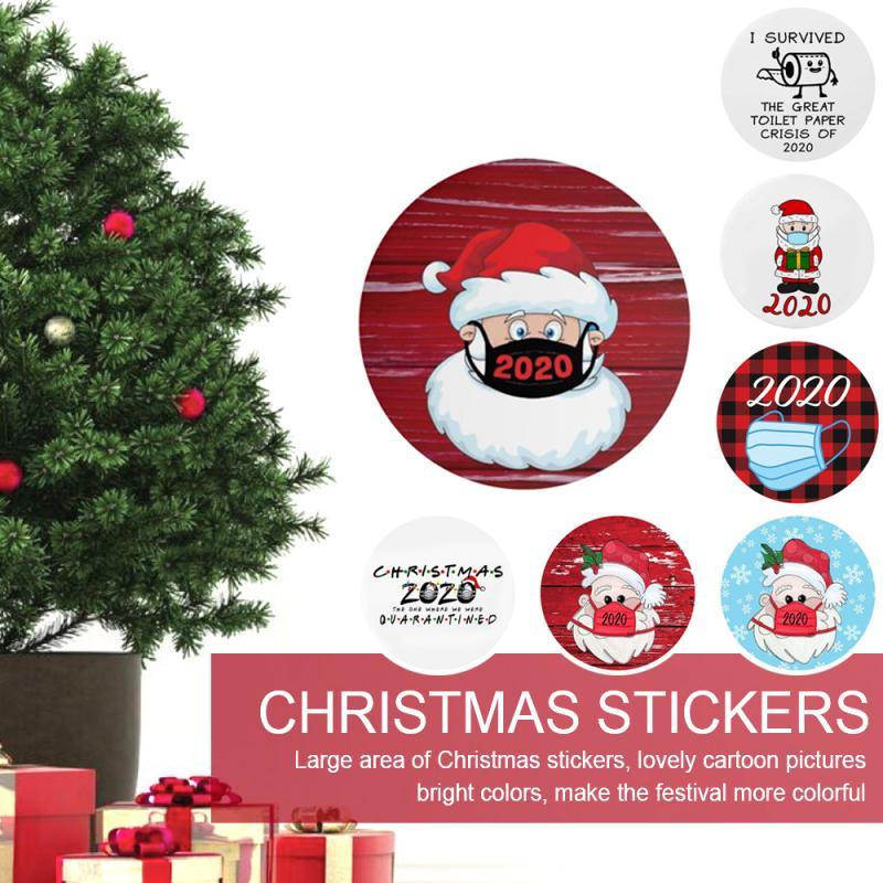 Va Christmas Wallpaper 2020 Cute Cartoon Merry Christmas Sticker Wall Window Glass Decor