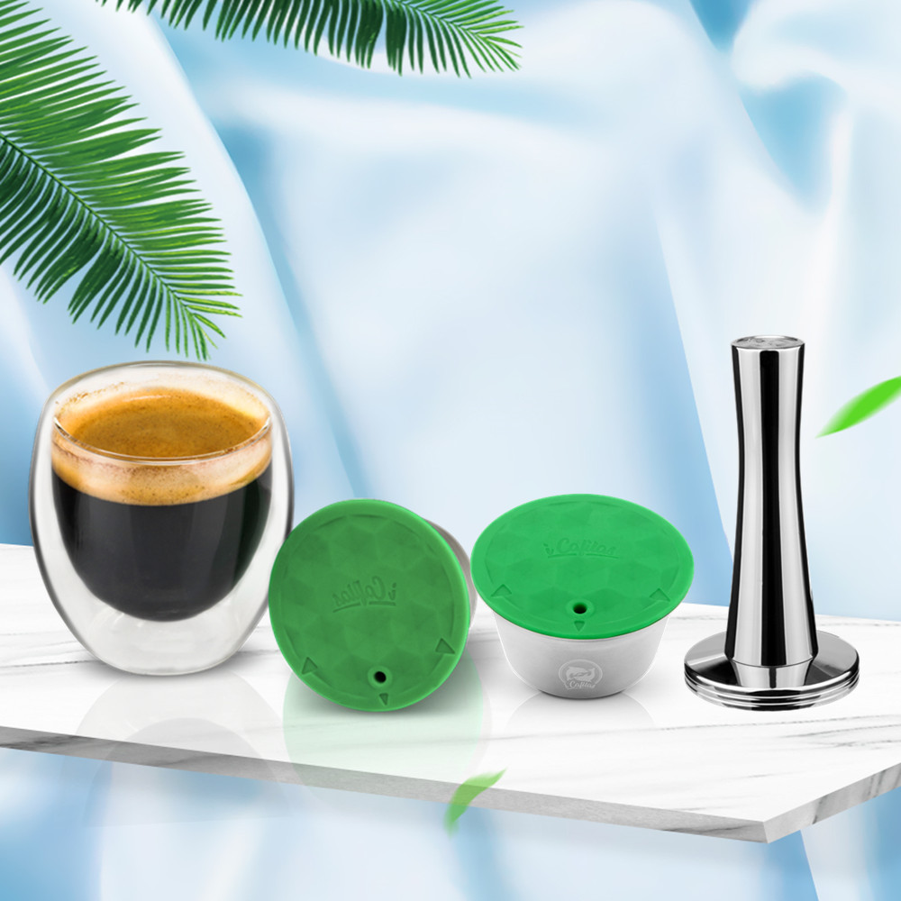 Stainless Steel & Plastic Coffee Capsule Pod For Nescafe Dolce Gusto Refillable Reusable Coffee Filters Tea Dripper Baskets