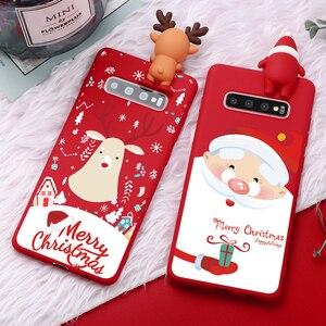 Рождественские чехлы из ТПУ для Samsung Galaxy M10 M20 M30 A40 A60 A70 Note 10 9 8 J7 J6 J4 Plus J8 2018 J5 J3 2017 Prime 2016 2015, чехол
