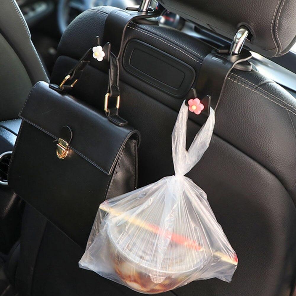 1*Car Seat Headrest Plastic Shopping Bag Holder Hooks Organizer Clip Accessories