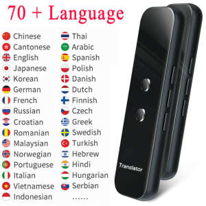 Portable Smart Voice Translator Two Way Real Time 70+ Languages Translation