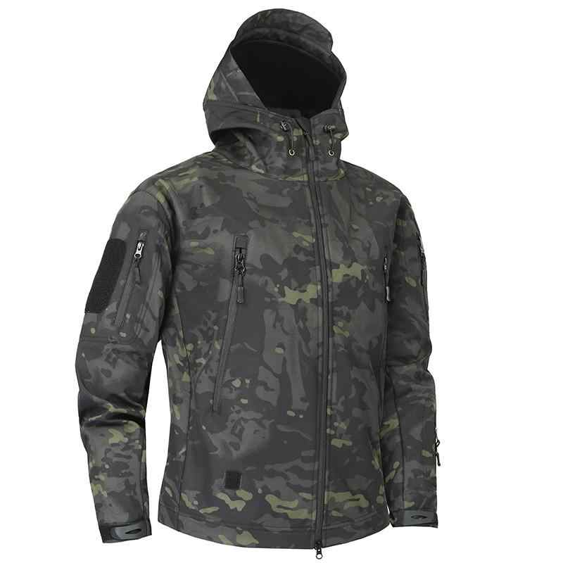 Mege Shark Haut Soft Shell Military Tactical Jacke Männer Wasserdichte Armee Fleece Kleidung Multicam Camouflage Windjacken 4xl