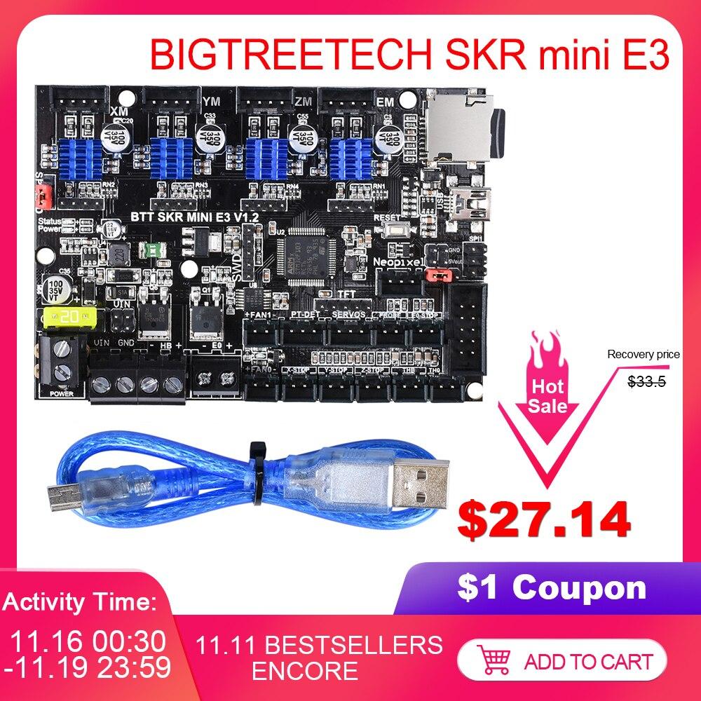 BIGTREETECH SKR mini E3 V1.2 carte de commande 32Bit avec TMC2209 UART VS TMC2208 pour Ender 3 Pro/5 SKR V1.3 E3 DIP pièces d'imprimante 3D