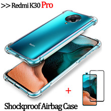 2-in-1 glass+airbag case for redmi k30 pro clear silicone phone cover mi k30 5g/4g xaomi k 30 pro armor case xiaomi redmi k30pro shockproof case for k30 redmi xiaomi k30 k20pro silicone cases on k20 xiomi mi9t pro cover case xaomi k 30 redmi k30 4g 5g shell