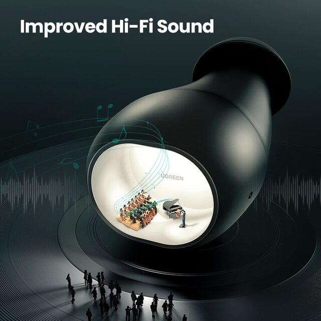 אוזניות כפתור של UGREEN עם קופסת טעינה 6