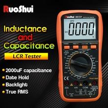 цены RuoShui 9805A+True RMS Tester digital multimeter professional  AC/DC Voltmeter Ammeter 1000V20A Capacitance Frequency Resistance