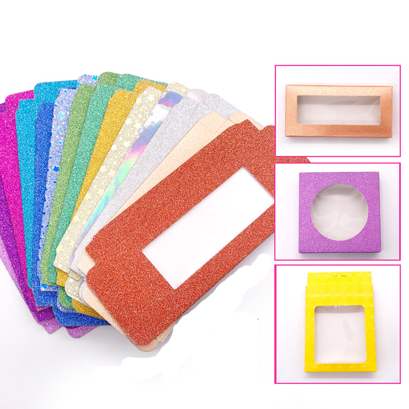 NEW 10 Set/lot Packing Box For Eyelash Package Paper Box Color Carton With Tray 25mm Eyelashes DIY Custom Logo Flash Packing Box