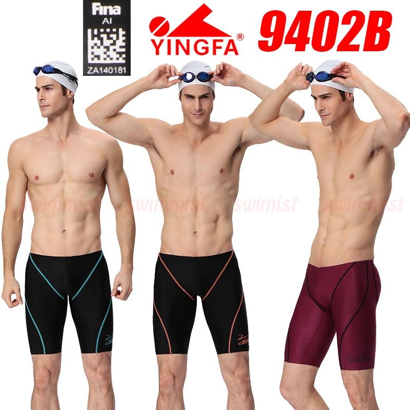 [Fina aprovado] nwt yingfa 9402b masculino competição treinamento corrida jammers troncos de natação profissional todo o tamanho
