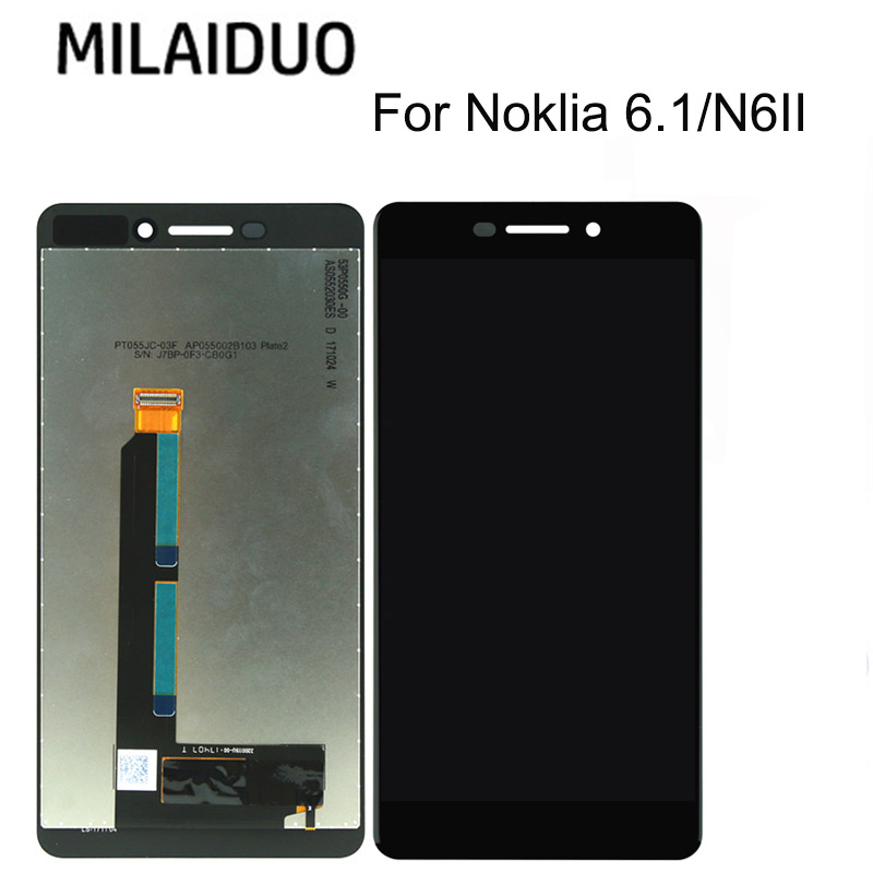 100% Tested For <font><b>Nokia</b></font> <font><b>6.1</b></font> N6II LCD Display <font><b>Touch</b></font> <font><b>Screen</b></font> Digitizer Assembly Replacement Parts For <font><b>Nokia</b></font> <font><b>6.1</b></font> LCD image