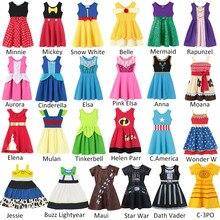 Toy Story 4 Buzz LIghtyear Jessie Dresses Baby Girls Casual Clothing Fancy Minnie Rapunzel Belle Elsa Anna Snow White Cinderella