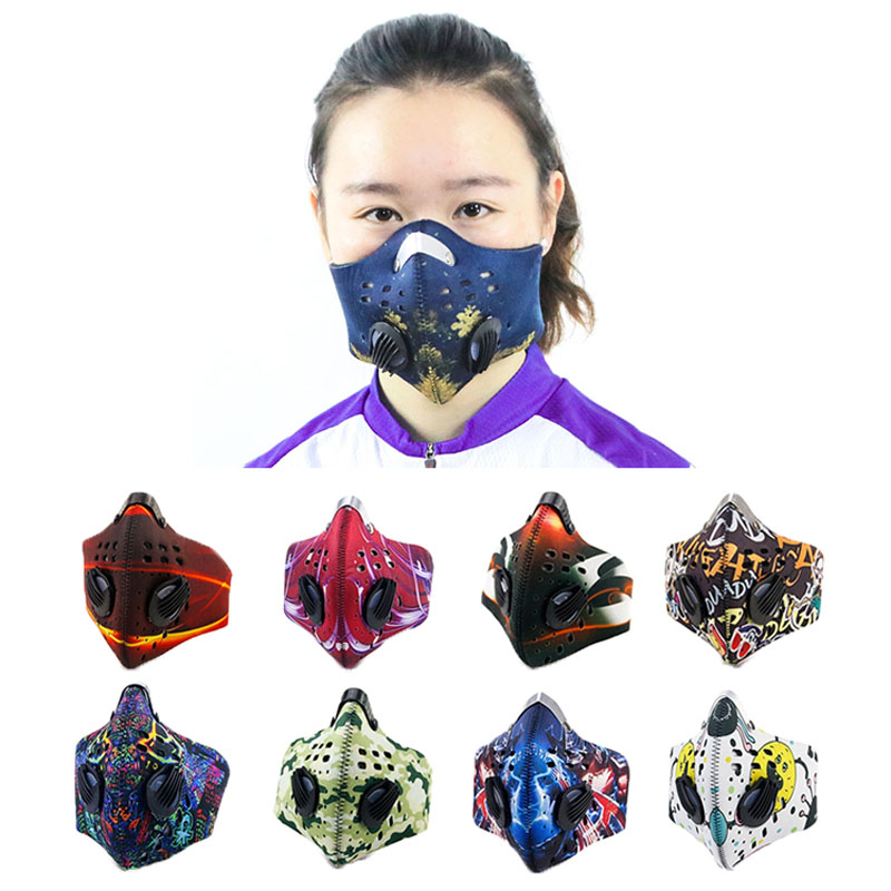 Riding mask fashion custom smog pm2.5 air filter motorcycle biker motorbike airdust anti odor fog pollen riding mask|Cycling Face Mask| |  - title=