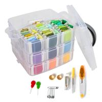 150Color Embroidery Floss Cross Stitch Kit Friendship Bracelets Thread Tool Bobbins Sewing Accessorie Storage Box Embroidery Set