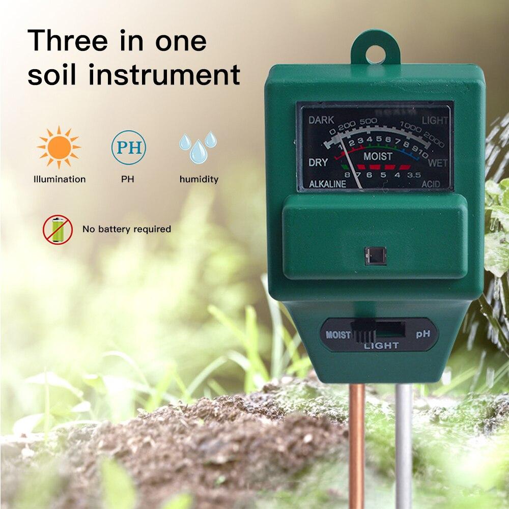 Цифровой детектор влажности почвы измеритель PH солнечного света тест er 3 в 1 точный садовый инструмент для измерения кислотности и влажности растений|Измерители pH|   | АлиЭкспресс