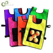 1Set Game Props Vest Sticky Jersey Vest Spel Vest Met Kleverige Bal Gooien Kinderen Kids Outdoor Fun Sport speelgoed ZXH