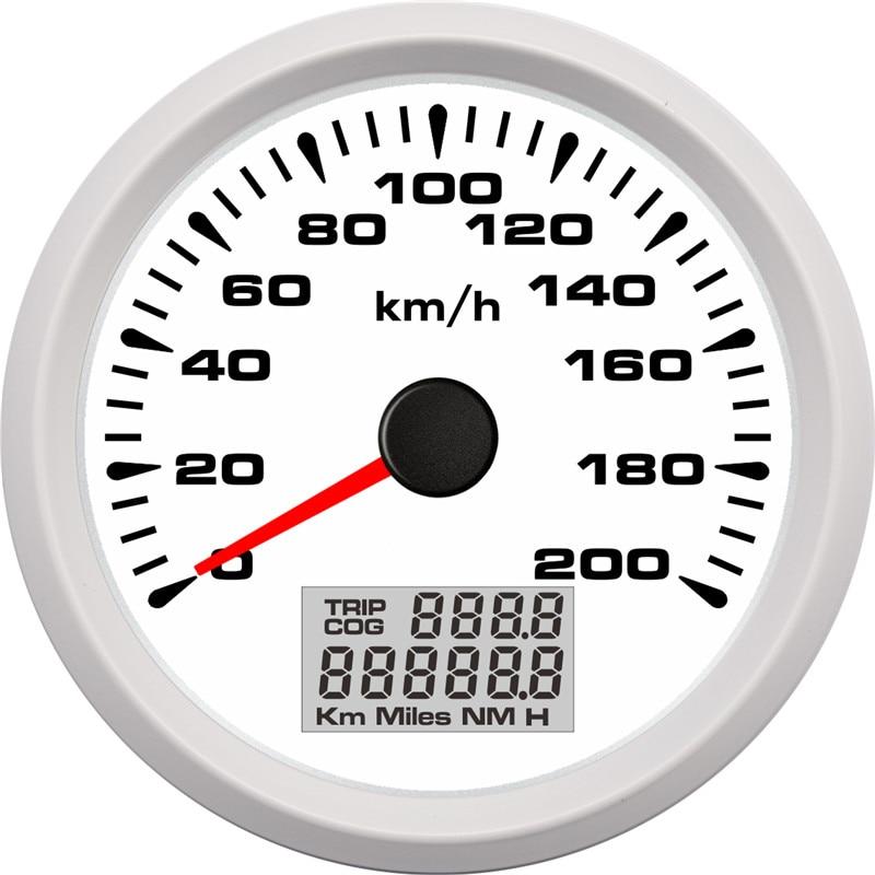 Image 5 - 85mm Digital GPS Speedometer Gauge 120km/h 200km/h Waterproof  Speed Gauges 7 Colors Backlight 12V 24V gps snelheidsmeterSpeedometers