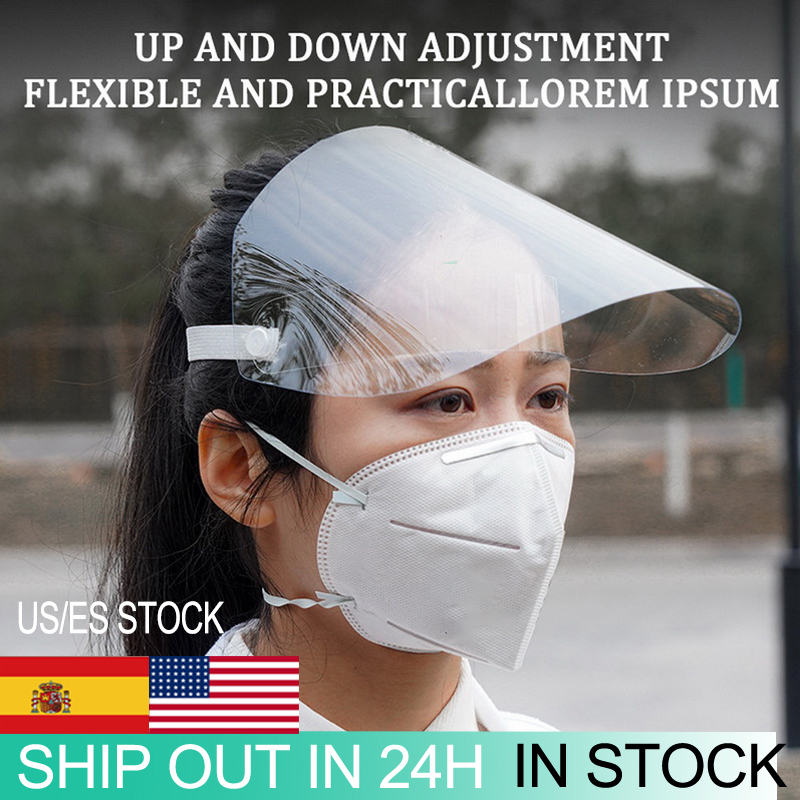 1PCAdjustable Full Face Cover Mask Visor Shield Droplet   Windproof Face Shield Washable