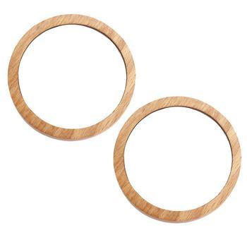 2szt Mini kieszonkowe lustro bukowe drewno lusterko do makijażu drewniane kompaktowe lusterko kosmetyczne przenośne wyglądające szklane lustro dla dziewczynek 2 rozmiary tanie i dobre opinie RUIMIO Nie posiada CN (pochodzenie) Wood+Glass Mini Pocket Mirror Mini Mirror