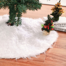 Christmas Tree Skirt Faux Fur Decor Plush Decoration  Birthday Party School Outdoor