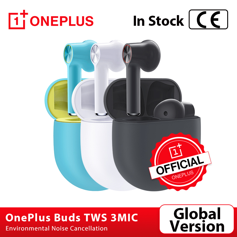 Global Version OnePlus Buds TWS Wireless Bluetooth 5 0 Earphones 3mic Environmental Noise Cancellation for Oneplus 8 8Pro Nord