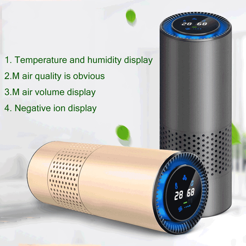 Smart New Usb Car Air Purifier To Remove Odor and Formaldehyde Haze Efficient Portable Negative Ion Purifier for Car Home Office