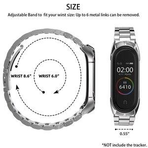 Image 5 - Mi Band 5 Strap Bracelet Wristband for Xiaomi Band Correa Pulseira Opaska Miband 4 Xiomi My Band Strap 3 4 5 Xiami Metal Global