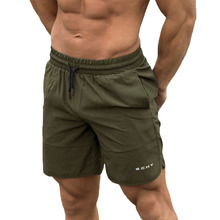 GYMOHYEAH חדש 2019 קיץ Mens כושר פיתוח גוף לנשימה מהיר ייבוש קצר חדרי כושר גברים רצים מקרית מכנסיים M 2xl סיטונאי