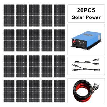 ECOWORTHY de Sistema de energía Solar ecocorthy de 2000 W: 20*100W Panel...
