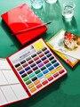 24/36/48 cor pintados à mão sólido aquarela pintura conjunto/pintura conjunto/estudante pintura suprimentos/arte suprimentos