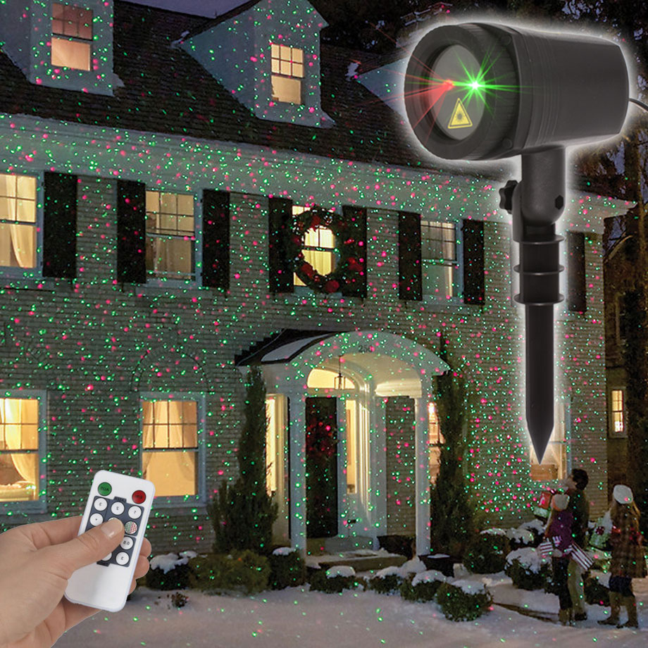 Image 2 - 2019 Outdoor Christmas Laser Lighting Decor For Home New Years Holiday Garden Lawn Projector-in Holiday Lighting from Lights & Lighting