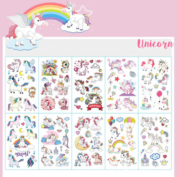 10pcs/lot Color Unicorn Tattoo Set Face Temporary Tattoo Child Tattoo Sticker Body Tatoo for Kids Cute Tattoo Children Tattoos 1