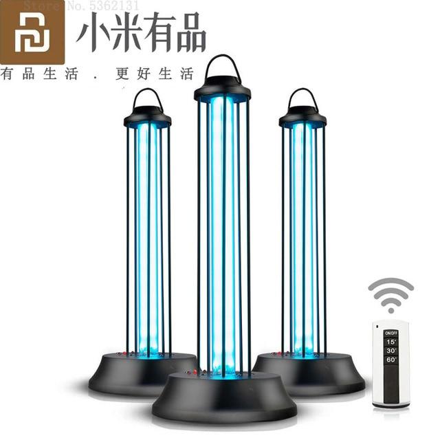 Youpin Lámpara de desinfección de ozono UVC germicida, luz esterilizadora de cuarzo para desinfectar ácaros y bacterias, esterilización y desodorización