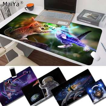 Maiya Beautiful Anime Funny Lovely Space Cats Customized laptop Gaming mouse pad Rubber PC Computer Gaming mousepad