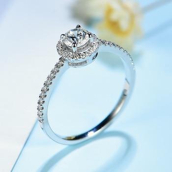 Natural Diamonds 10K white gold Engagement Ring 3