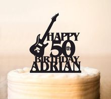 Electric Bass,Guitar Cake Topper,Musician Cake Topper,Band,Guitar Player Cake Topper,Music Birthday Cake Topper,any age Cake Top(China)