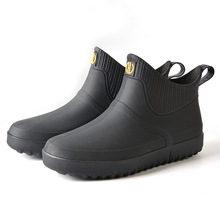 39-44 Size Rain Boots Men #8217 s Short Boots Kitchen Thin Non-Slip Rubber Shoes Soft Bottom Wear Trekking Plush Man Waterproof Shoes cheap TANTU Plastic Slip-On Fits true to size take your normal size Spring2019 Professional Adult Hiking Shoes etz20 Medium(B M)