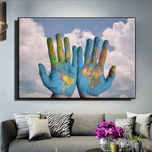 Modern Pop Graffiti Art Canvas Painting Palm Map Posters and Prints Abstract Wall Art Pictures for Living Room Home Decoration