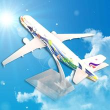 цены 1/400 Alloy Thailand Bangkok Air Airlines A320 Plane Airplane Model with Stand Plane Design Desk Decoration
