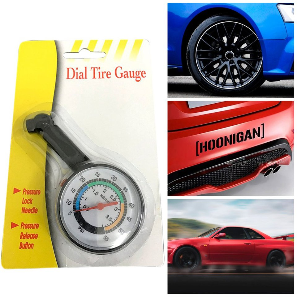 Jessicadaphne Car Tire Pressure Gauge High-precision Multi-Function Tire Pressure Gauge Meter Deflatable Vehicle Tools