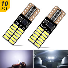 10x T10 W5W Led Led Interieur Auto Verlichting Voor Ford Focus 2 3 Fiesta Fusion Ranger Kuga S Max MK5 mustang Escape Leds Voor Auto 12V