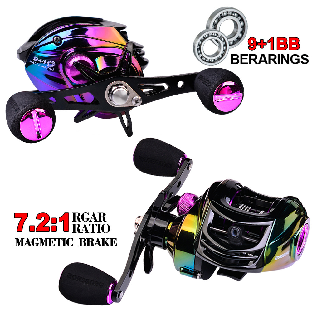 Baitcasting Reels New Profile Design Fishing Reel Magnet Braking System 17.6 Lbs Carbon Fiber Drag 9+1 Stainless Steel Bearings|Fishing Reels| - AliExpress